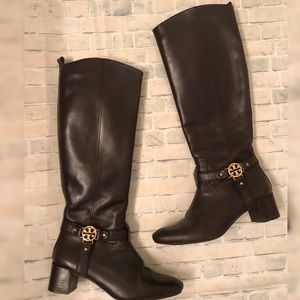 Tory Burch Sz 7 - Brown Leather Riding Boots